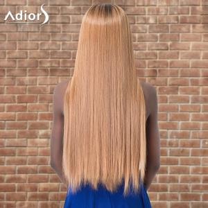 Adiors Ultra Long Ombre Centre Parting Straight Synthetic Wig -