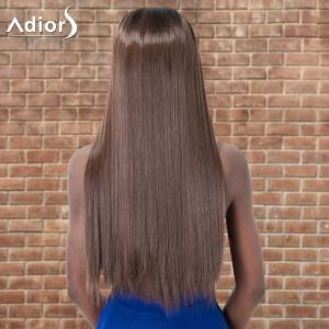 Adiors Ultra Long Ombre Middle Parting Straight Synthetic Wig -