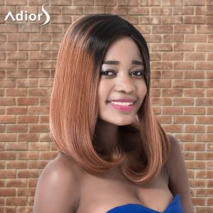 Adiors Medium Natural Straight Ombre Side Parting Synthetic Wig - COLORMIX