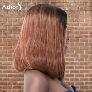 Adiors Medium Natural Straight Ombre Side Parting Synthetic Wig -