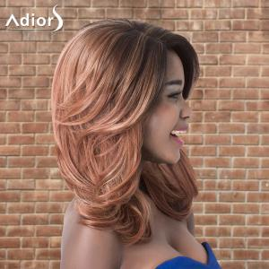 Adiors Medium Layered Wavy Ombre Side Parting Synthetic Wig -