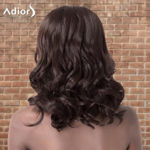 Adiors Medium Shaggy Wavy Side Parting Synthetic Wig - DEEP BROWN