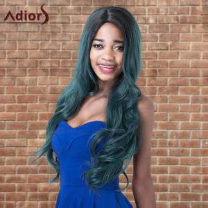 Adiors Colormix Long Shaggy Wavy Side Parting Synthetic Wig - COLORMIX