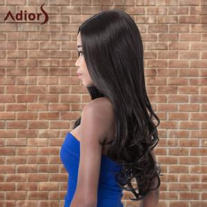 Adiors Long Shaggy Wavy Side Parting Synthetic Wig -