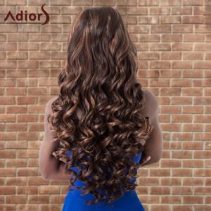 Adiors Highlight Long Shaggy Wavy Centre Parting Synthetic Wig - DEEP BROWN