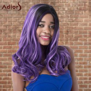 Adiors Highlight Long Wavy Side Parting Synthetic Wig - COLORMIX