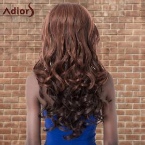 Adiors Long Fluffy Highlight Wavy Side Parting Synthetic Wig -