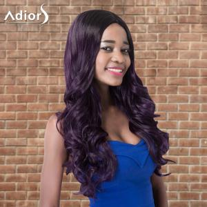 Adiors Long Wavy Side Parting Highlight Synthetic Wig - COLORMIX