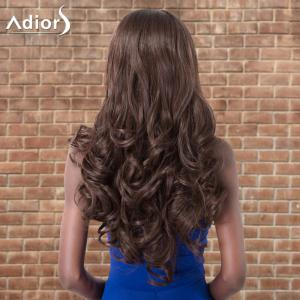Adiors Long Shaggy Wavy Middle Parting Synthetic Wig -