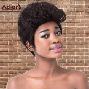 Adiors Short Haircut Capless Fluffy Curly Synthetic Wig -