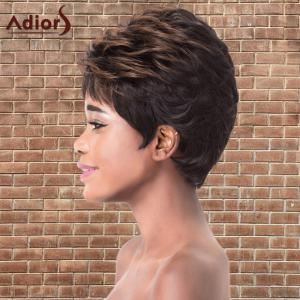 Adiors Short Highlights Fluffy Straight Synthetic Wig -