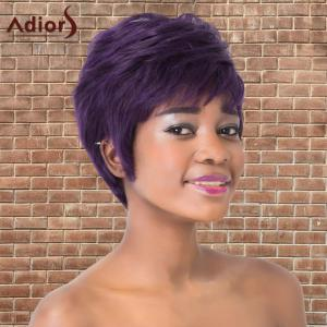 Adiors Synthetic Short Full Bang Fluffy Mixed Color Straight Wig -