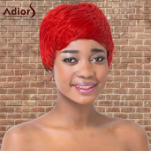 Adiors Synthetic Short Double Color Full Bang Straight Wig