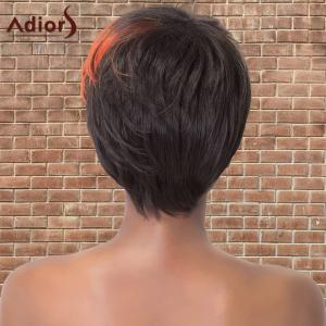 Adiors Short Multi Color Side Bang Straight Synthetic Wig - COLORMIX