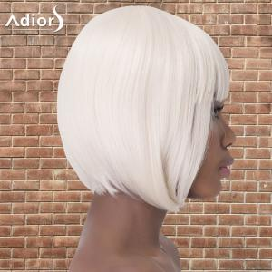 Short Bob Haircut Full Bang Straight Synthetic Adiors Wig -