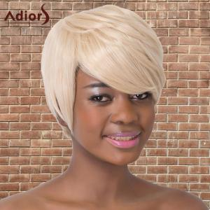 Refreshing Short Oblique Bang Straight Synthetic Adiors Wig