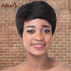 Short Boy Cut Side Bang Straight Synthetic Adiors Wig