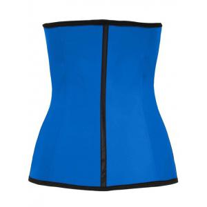Color Block Underbust Steel Boned Corset - Blue - 6xl