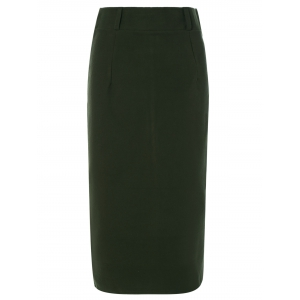 Long Woolen Pencil Skirt