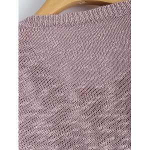 Casual Letters Gilding Print Infinite Knitwear -