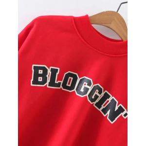 BLOGGING Letter Cropped Sweatshirt -