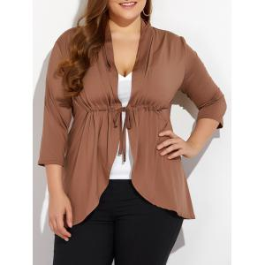 Slimming Drawstring Asymmetric Jacket