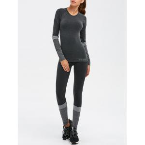 Slim Fit Tee With Yoga Leggings