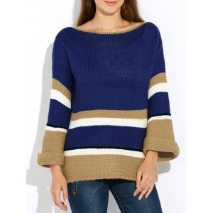 Flare Sleeve Striped Sweater