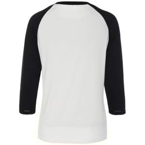 Floral Cross Pateern Raglan Sleeve T-Shirt - WHITE XL
