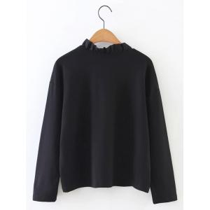 Fitted Ruffled Collar Top -