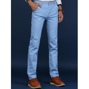 Trimmed Mid Rise Skinny Chino Pants