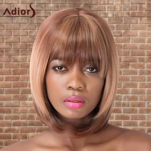 Adiors Short Neat Bang Straight Bob Colormix Synthetic Wig
