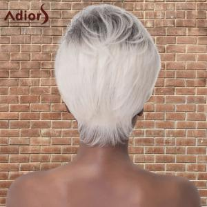 Adiors Short Color Mixed Layered Straight Cosplay Synthetic Wig -