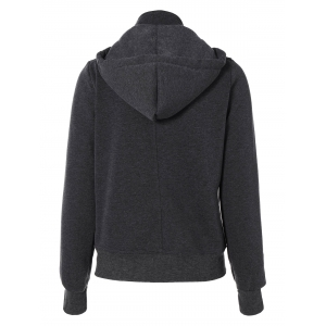 Button Up Hoodie - GRAY 2XL
