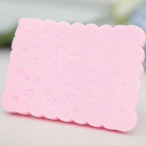 2 Pcs Square Cartoon Facial Cleansing Sponge -