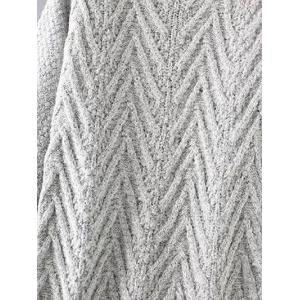 Chunky Pullover Long Sweater - LIGHT GRAY ONE SIZE