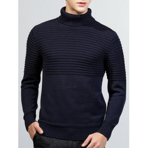 Turtleneck côtelé Pull