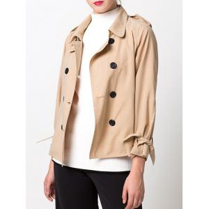 Double-Breasted Loose Duster Jacket -