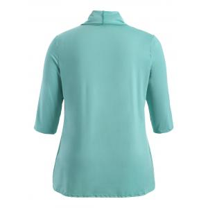 Slimming Drawstring Asymmetric Jacket - LIGHT GREEN 5XL