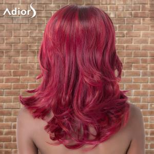 Adiors Long Side Parting Wavy Colormix Synthetic Wig - COLORMIX