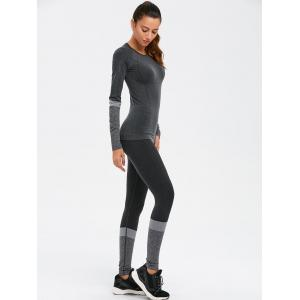 T-shirt collant et leggings de yoga -