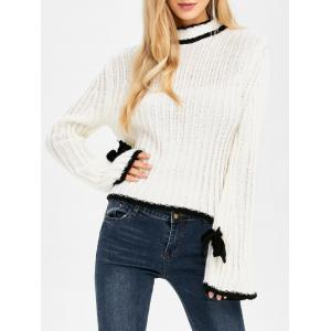Stand Neck Bell Sleeve Sweater -