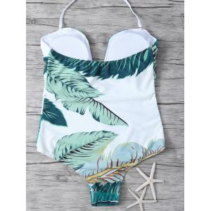 Printed Halter One Piece Swimsuit -