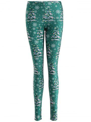 Fashion Christmas Tree Skinny Leggings