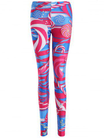 Hot Skinny Lollipop Print Leggings COLORMIX XL