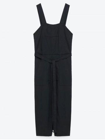 Buy Slit Belted Pinafore Dress