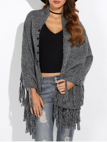 Shop Asymmetrical Fringed Cardigan