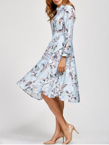 Cheap Fit and Flare Floral Printed Dress
