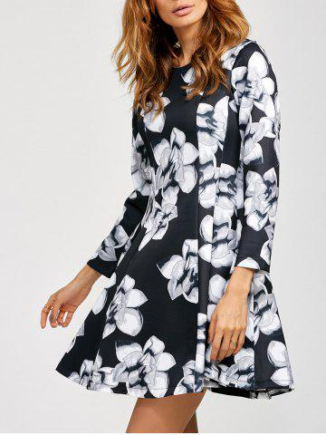 Fancy Fit And Flare Floral Knee Length Dress
