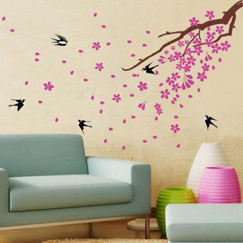 Cheap Swallows Return Removeable Giant Wall Stickers For Bedrooms BLACK/PINK
